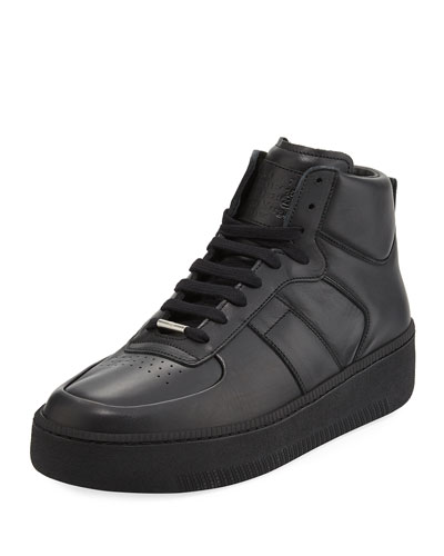 Men's MM1 Leather Mid-Top Sneakers