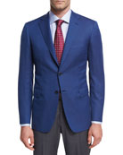 Basketweave Wool Two-Button Sport Coat