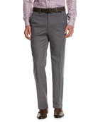 Micro-Tic Wool Trousers, Gray