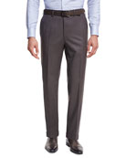 Brioni Micro-Tic Wool Trousers