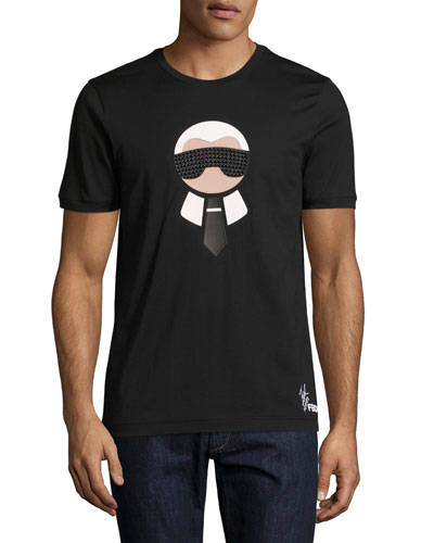 Karlito Studded Short-Sleeve T-Shirt, Black