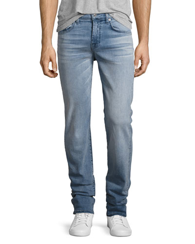 Luxe Performance: Slimmy Slim Jeans, Sundrenched (Light Blue)