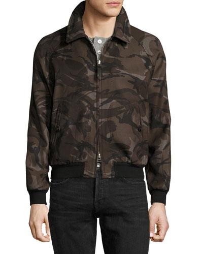Camouflage Raglan Bomber Jacket