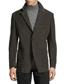 Cashmere Nubuck Patch Pocket Blazer