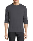 Brushed Striped Long-Sleeve T-Shirt