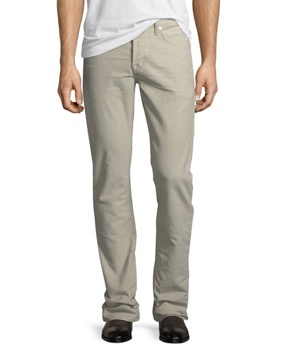 Straight-Fit Denim Jeans, Light Beige
