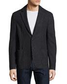 Technical Jersey Soft Jacket, Blue