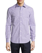 Box Check Cotton Sport Shirt, Multicolor