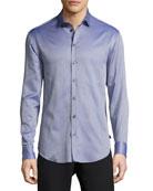 Fancy Cotton Sport Shirt, Blue
