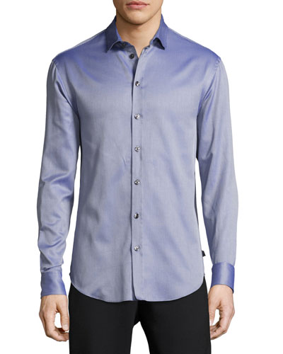 Fancy Cotton Sport Shirt, Blue