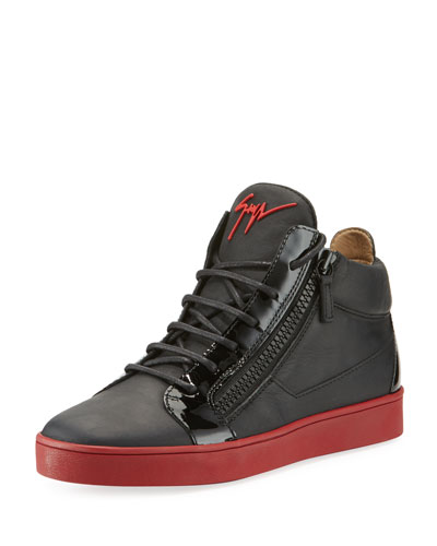 Men's Berlin Leather Mid-Top Sneakers