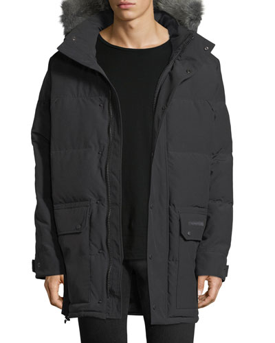 Emroy Down Parka with Fur-Trim Hood