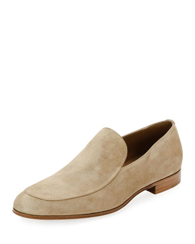 Marcello Men's Suede Loafer, Taupe