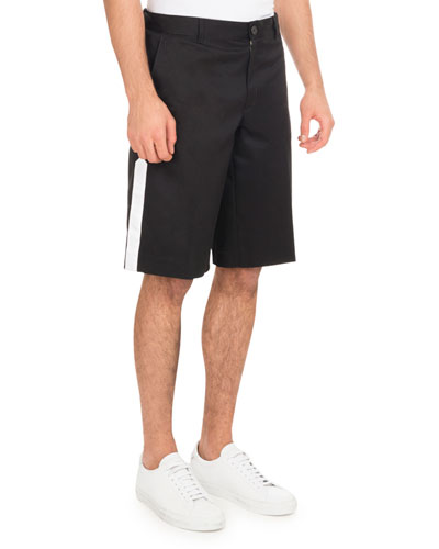 Cotton Shorts with Star & Band, Black