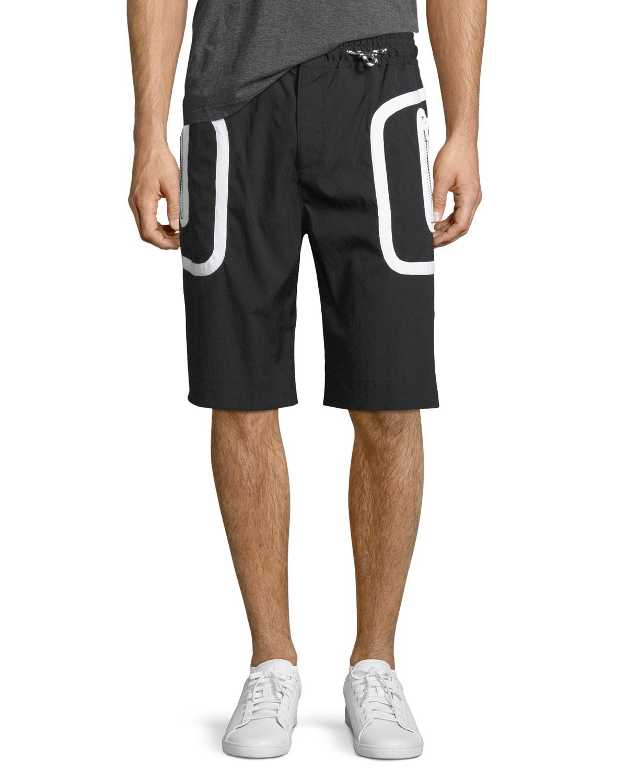 Drawstring Athletic Shorts
