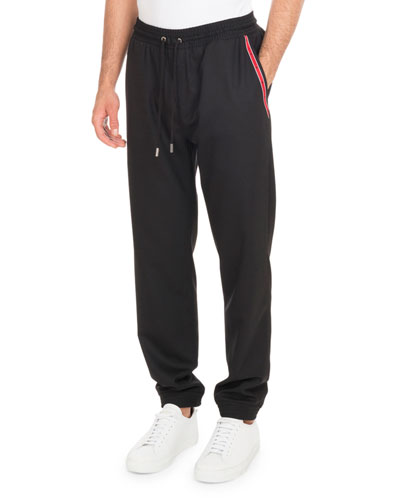 Jogger Pants with Star Taping, Black