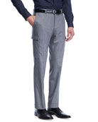 Tailored Wool-Cashmere Cargo Pants