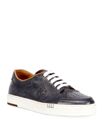Men's Playtime Palermo Scritto Calf Leather Sneaker