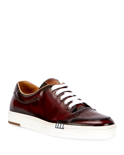 Men's Calf Leather Tennis Shoe