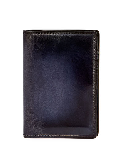 Jagua Venezia Leather Card Case, Meteorite Blue