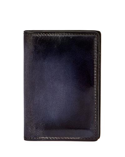 Jagua Venezia Leather Card Case, Meteorite Blue