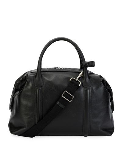 Leather Weekender Bag, Black