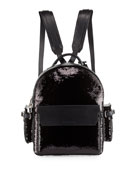 PHD Sequined Backpack, Black