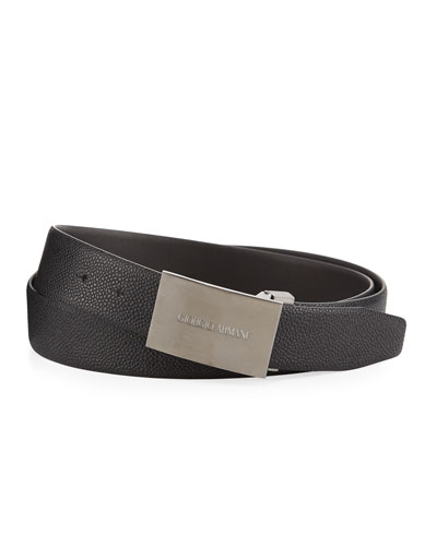 Caviar Leather Belt, Slate