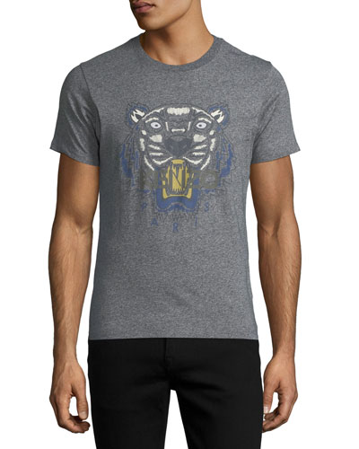 Tiger Logo T-Shirt, Blue