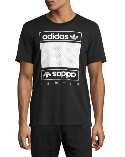 Mesh Box Logo T-Shirt, Black