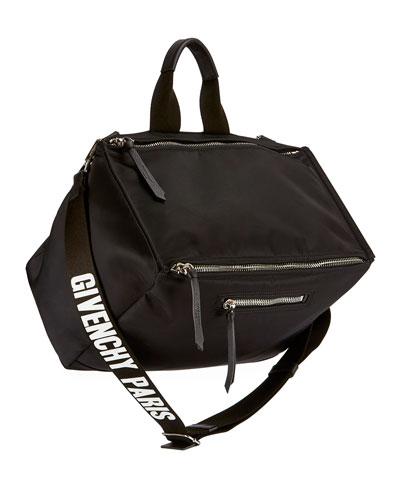 Men'S Pandora Nylon Crossbody Bag, Black