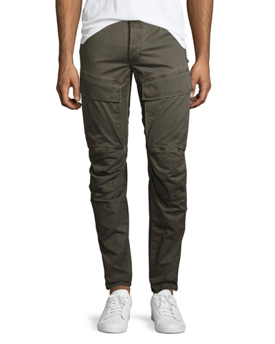 Air Defense 5620 3D Slim Cargo Jeans, Dark Shamrock/Asfalt (Olive)