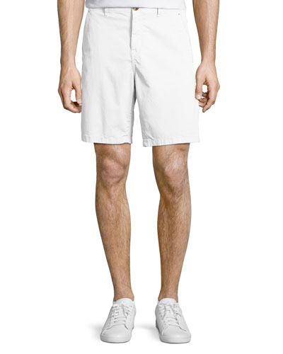 Stretch Chino Shorts, White