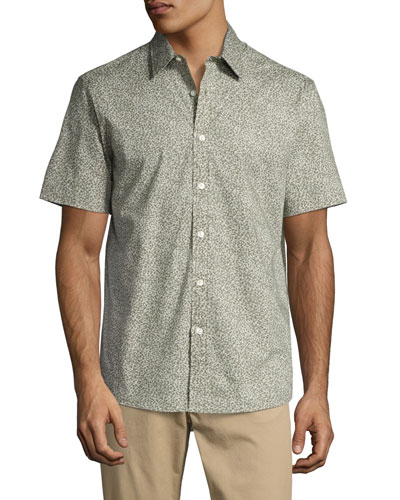 Josh Printed Short-Sleeve Shirt, Green
