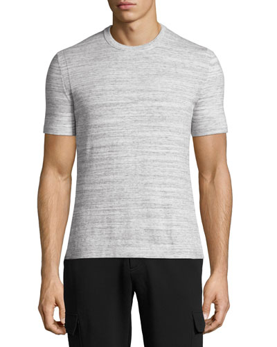 Space-Dye Pima Cotton Crewneck T-Shirt, Gray