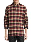 Leto Plaid Flannel Shirt, Burgundy