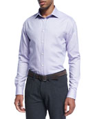 Micro-Dot Cotton Dress Shirt