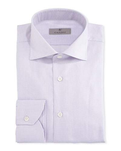 Dobby-Dot Dress Shirt, Pink