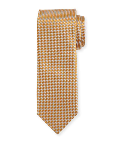 Silk Basketweave Tie, Rust Brown