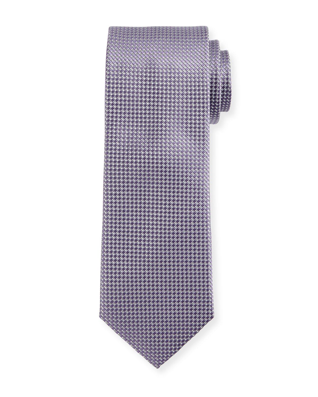 Silk Basketweave Tie, Lavender