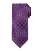 Four Petals Silk Tie, Purple
