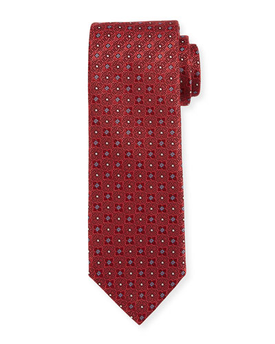 Four-Petal Silk Tie, Red