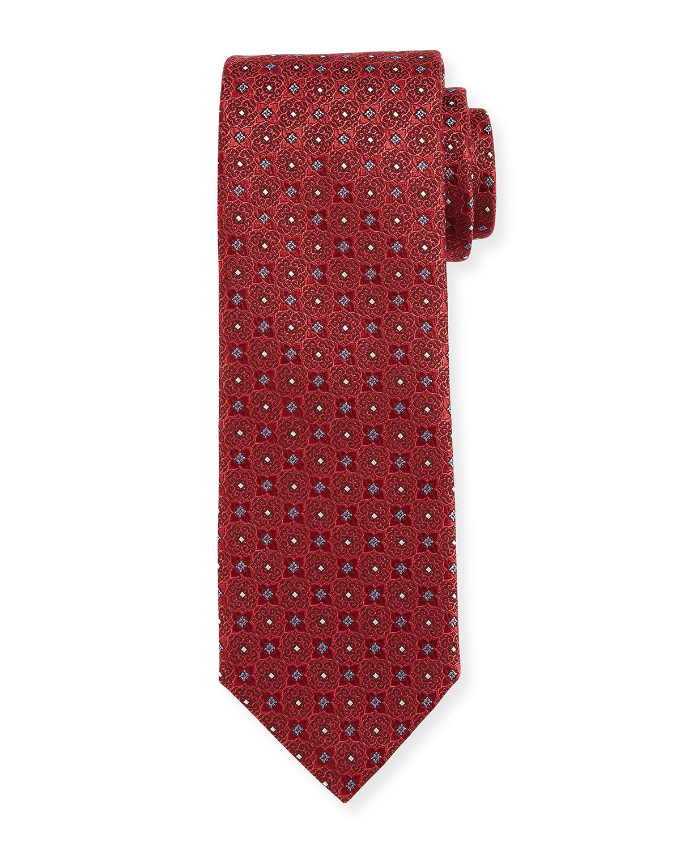 Four-Petal Silk Tie, Red