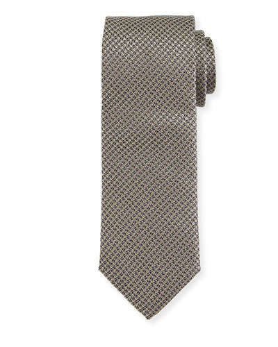 Cable-Weave Silk Tie, Gold