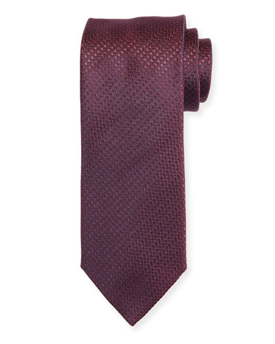 Cable-Weave Silk Tie