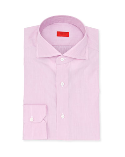 Micro-Stripe Cotton Dress Shirt