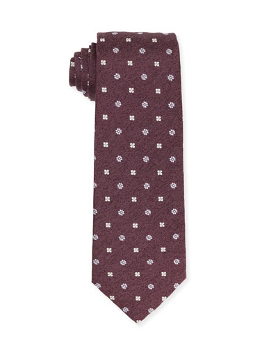 Micro-Flower Silk Tie