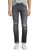 Men's Paxtyn Blot Blowout Skinny Jeans
