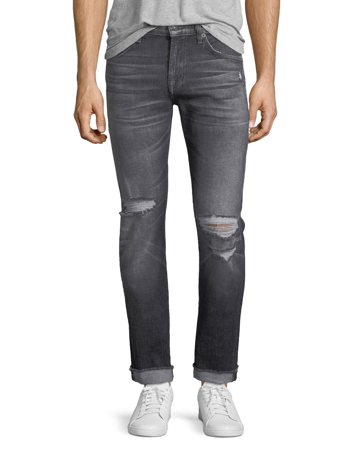 Men's Paxtyn Blot Blowout Skinny Jeans