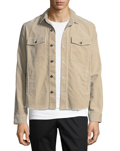 Garment-Washed Corduroy Over Shirt